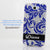 Silver/Blue Floral Print Personalized Name & Initials Design case made for Samsung Note 2