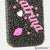 Black and Pink Personalized Name & Initials Design case made for iPhone 5 / 5S