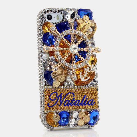 The Ship's Helm Personalized Name & Initials Design case made for iPhone 5 / 5S