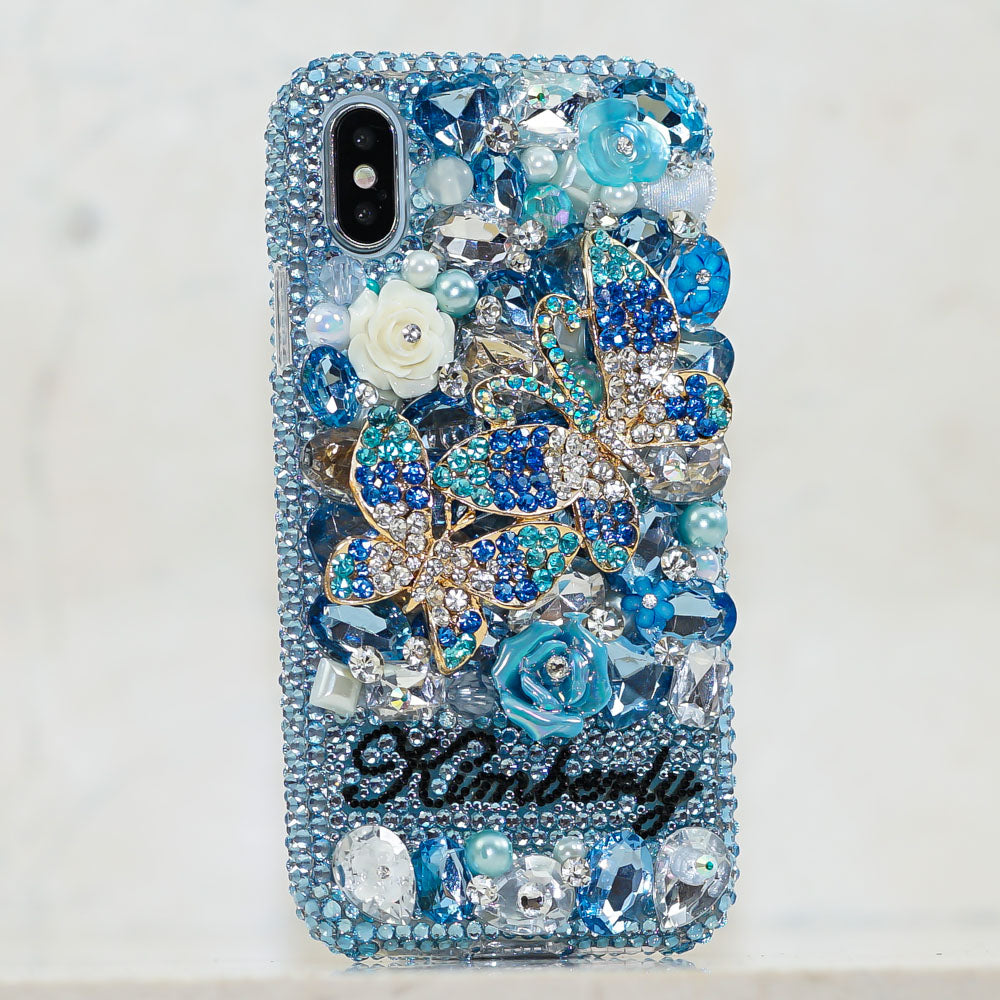 blue butterfly iphone xs max case