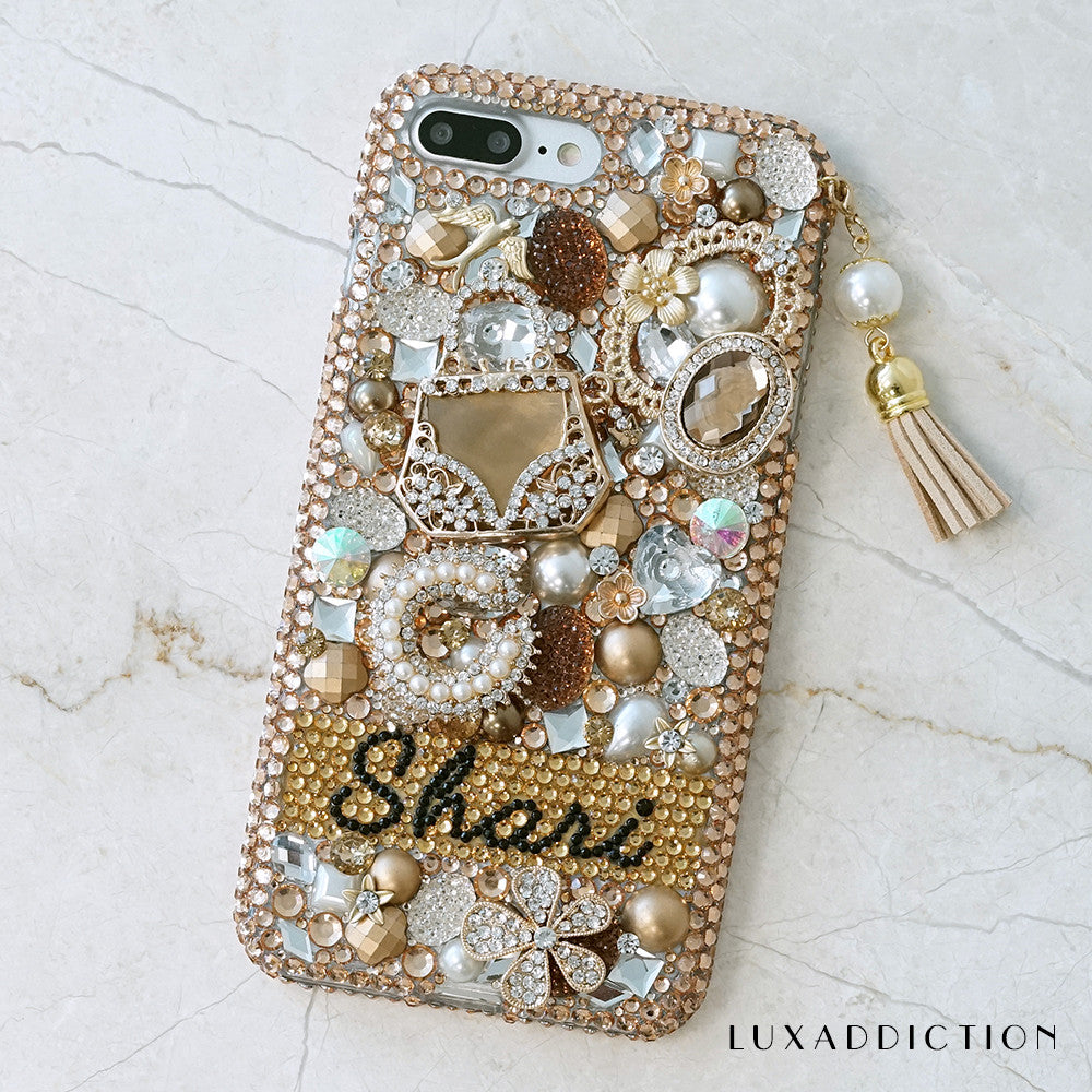 personlized bling iphone 7 plus case