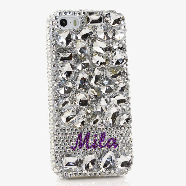 Diamond Stones Personalized Name & Initials Design (style PN_1061)