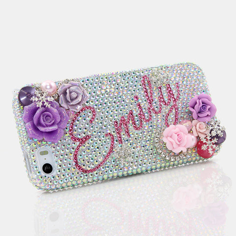 Snow Queen Personalized Name & Initials Design case made for iPhone 5 / 5S