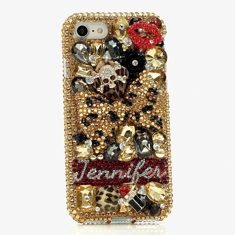 leopard bling iphone 7 case