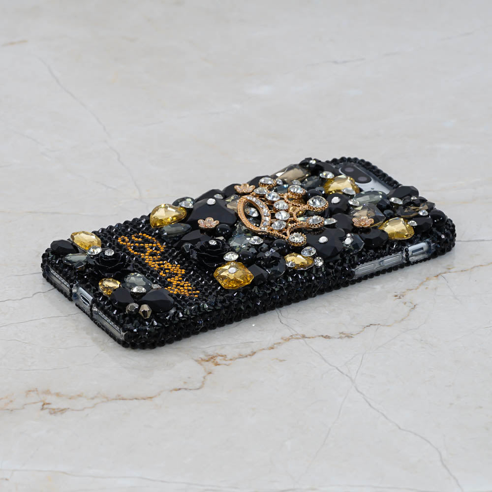 black gold iphone xs max case