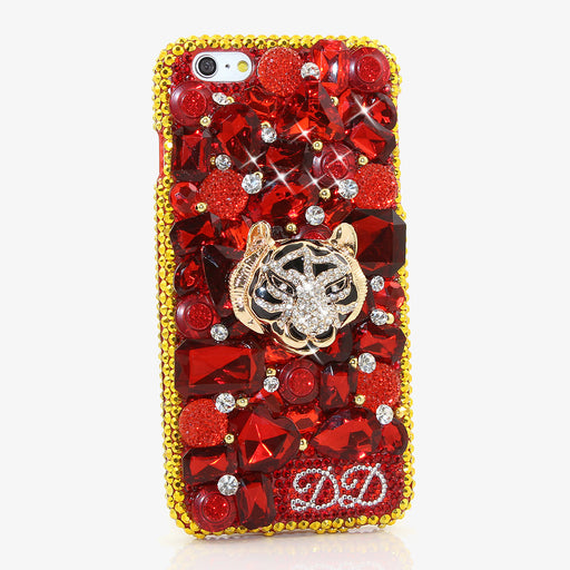 Golden Tiger Personalized Name & Initials Design case made for iPhone 6 / 6s PLUS