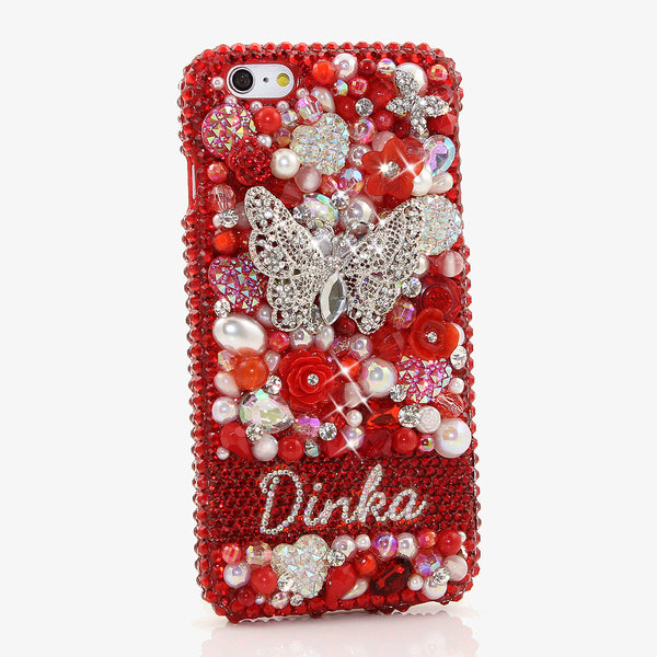 Red Garden Personalized Name & Initials Design made for iPHone 6 / 6s Plus