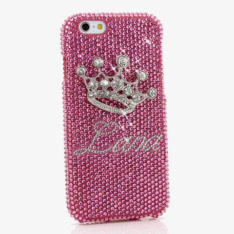 PAMPERED PRINCESS Personalized Name & Initials Design case made for iPhone 6 / 6s PLUS