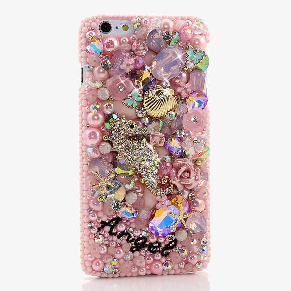 PINK OCEAN Personalized Name & Initials Design Handmade for iPhone 6s Plus