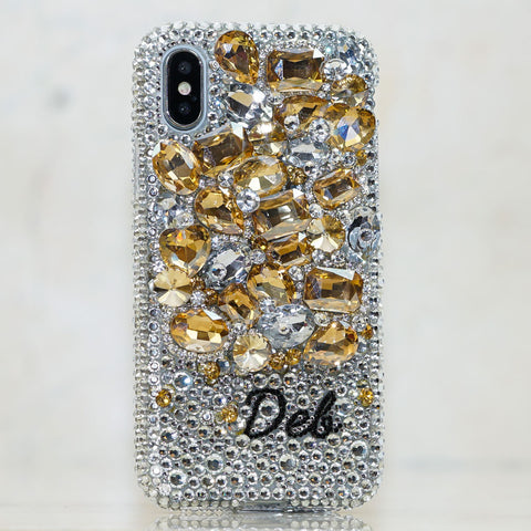Yellow Gemstones Garden iphone Xs case