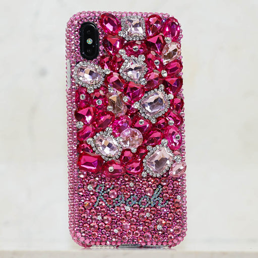 pink crystals iphone xs max case