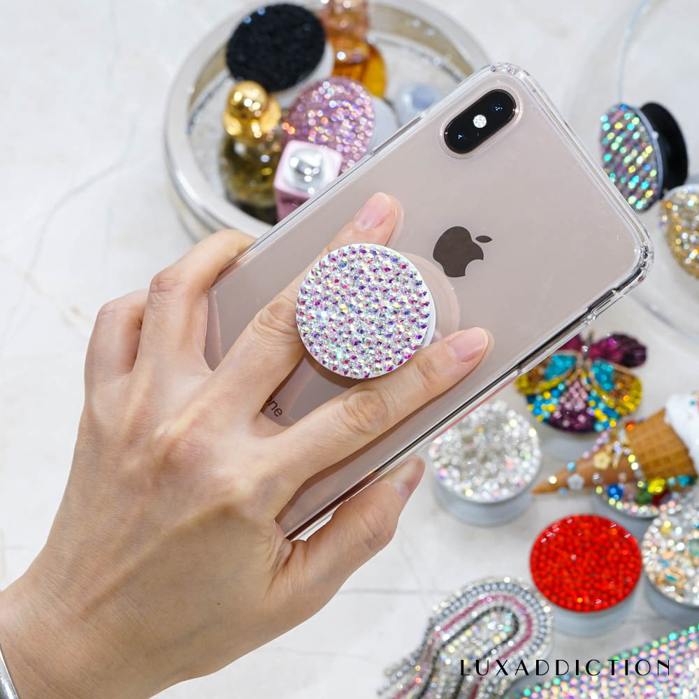 Genuine Aurora Borealis Crystals PopSockets Popgrip (POP200)