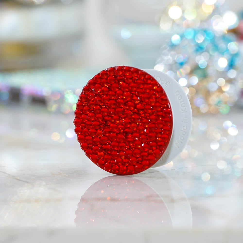 Genuine Siam Red Crystals PopSockets PopGrip (POP205)