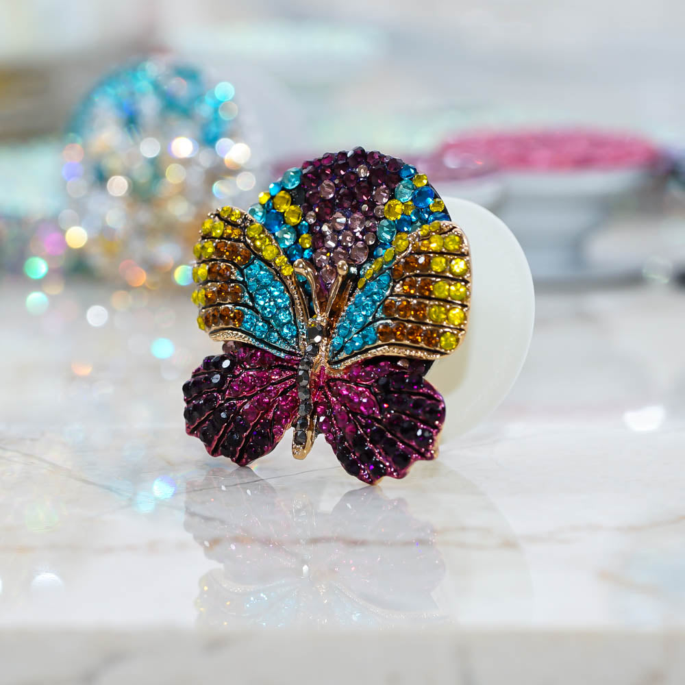 diamond butterfly popsockets