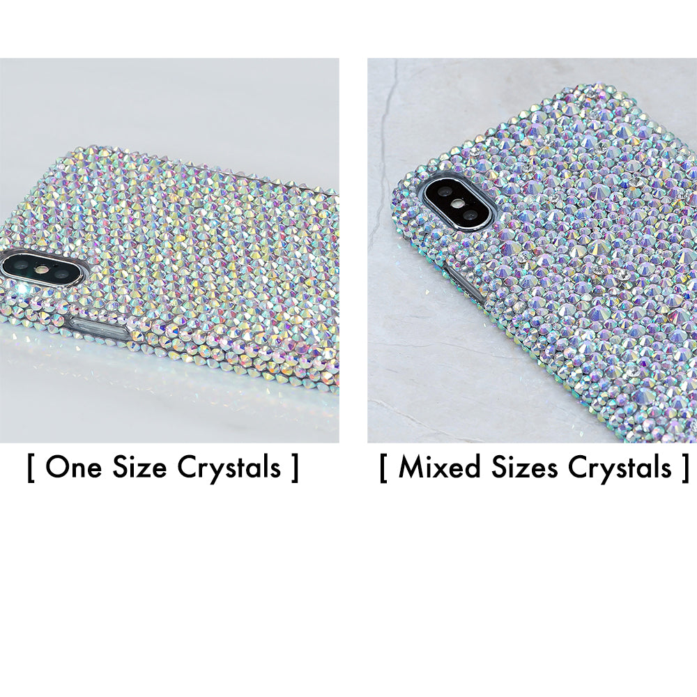 Personalized Genuine Crystals Design + PopSockets PopGrip - Pick Your Color (Style PS107)