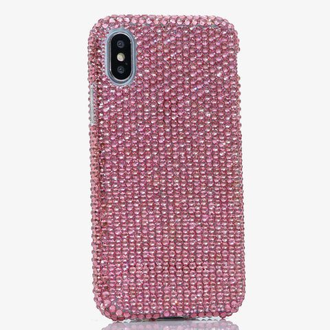 pink crystals iphone Xs case