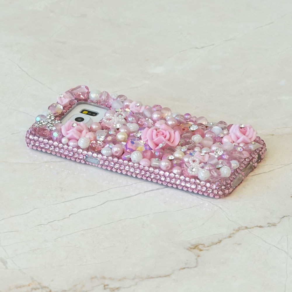 pink pearls bling samsung note case