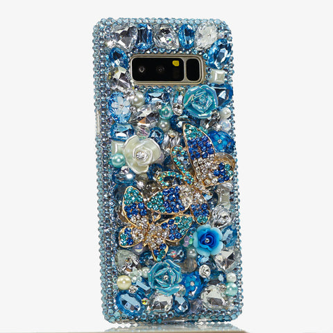 Blue butterfly Samsung Note 9 case