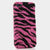Pink and Black Zebra Design case made for iphone 5 / 5S