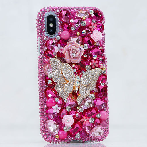 pink butterfly iphone Xs case