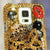 Golden Leopard Bow Design case made for Samsung Galaxy S5