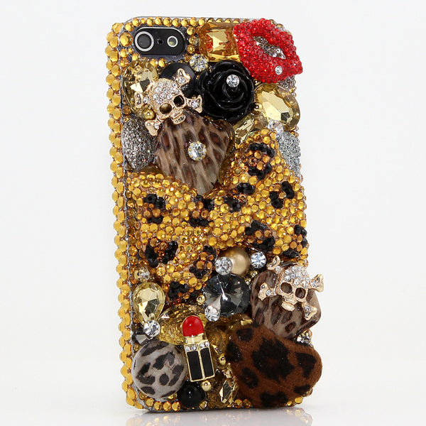 Golden Leopard Bow Design case made for iPhone 5 / 5S