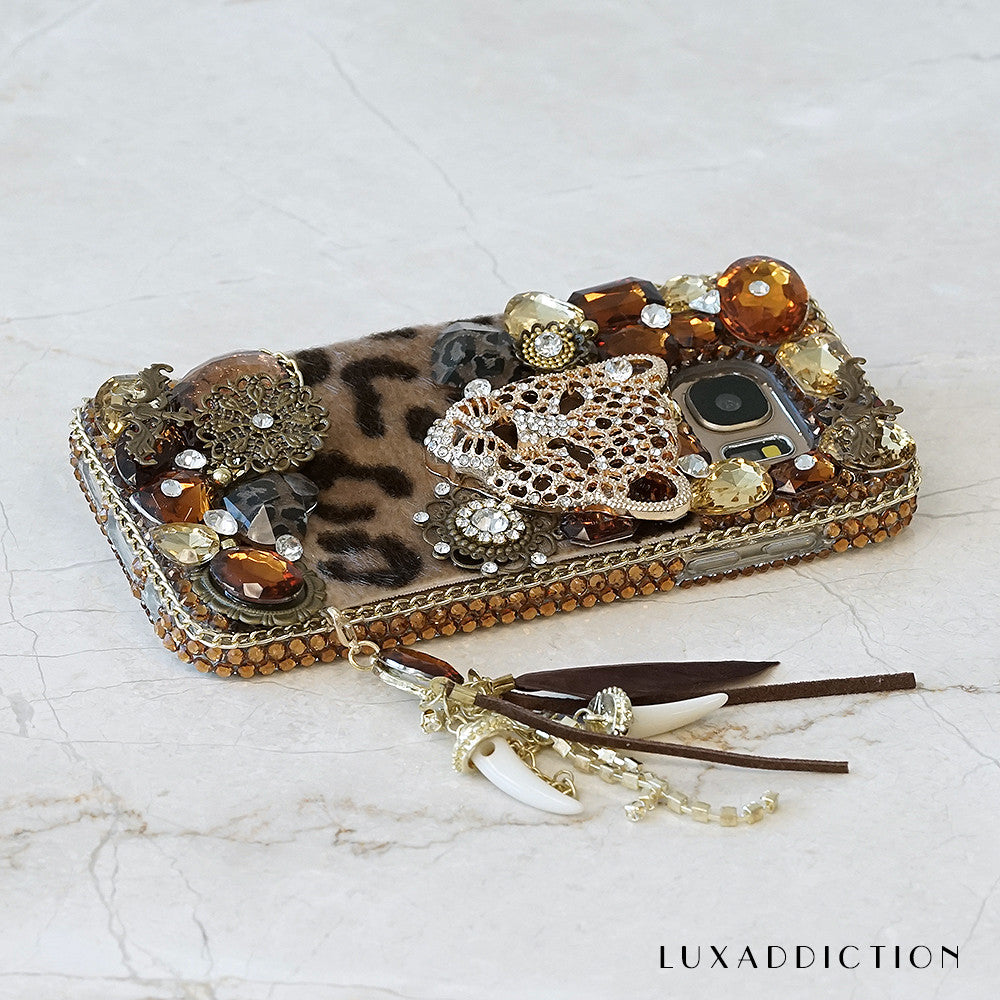 leopard bling iphone 7 plus case