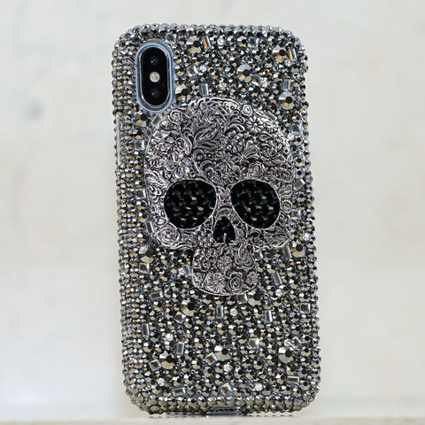 Metallic Skull iphone Xs case