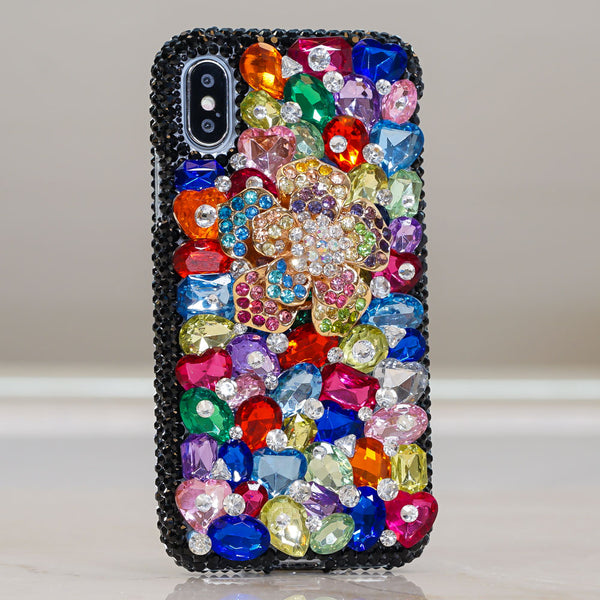 rainbow crystals iphone XR case