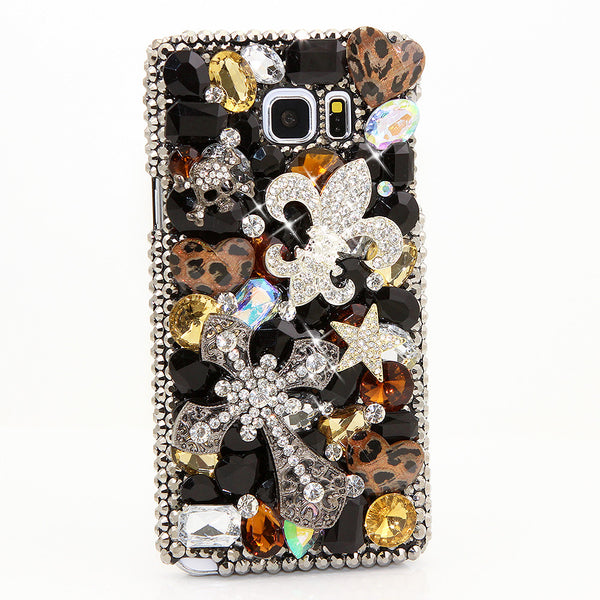 Fleur De Lis and Cross Design case made for Samsung Note 5