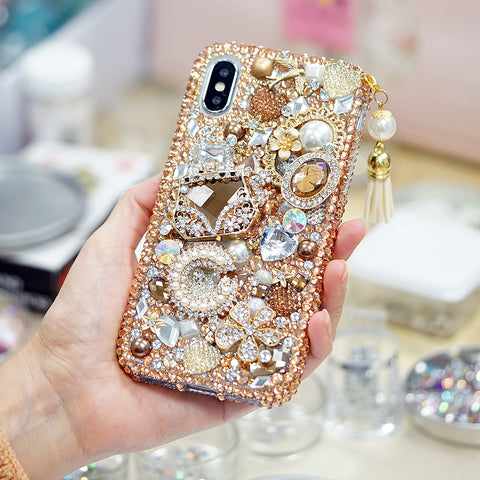 Royal gold bling iphone x case