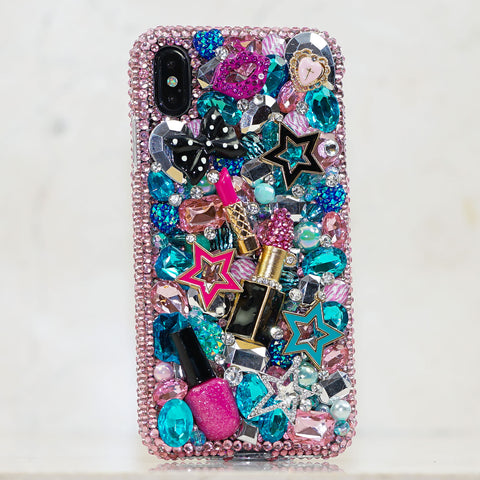 makeup design iphone Xs case