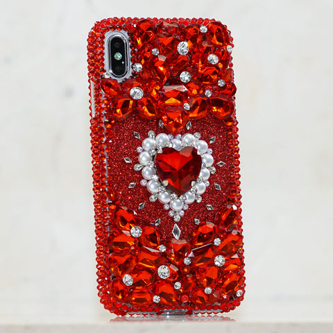 red heart iphone xs max case