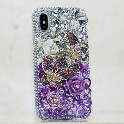 purple butterfly iphone Xs case