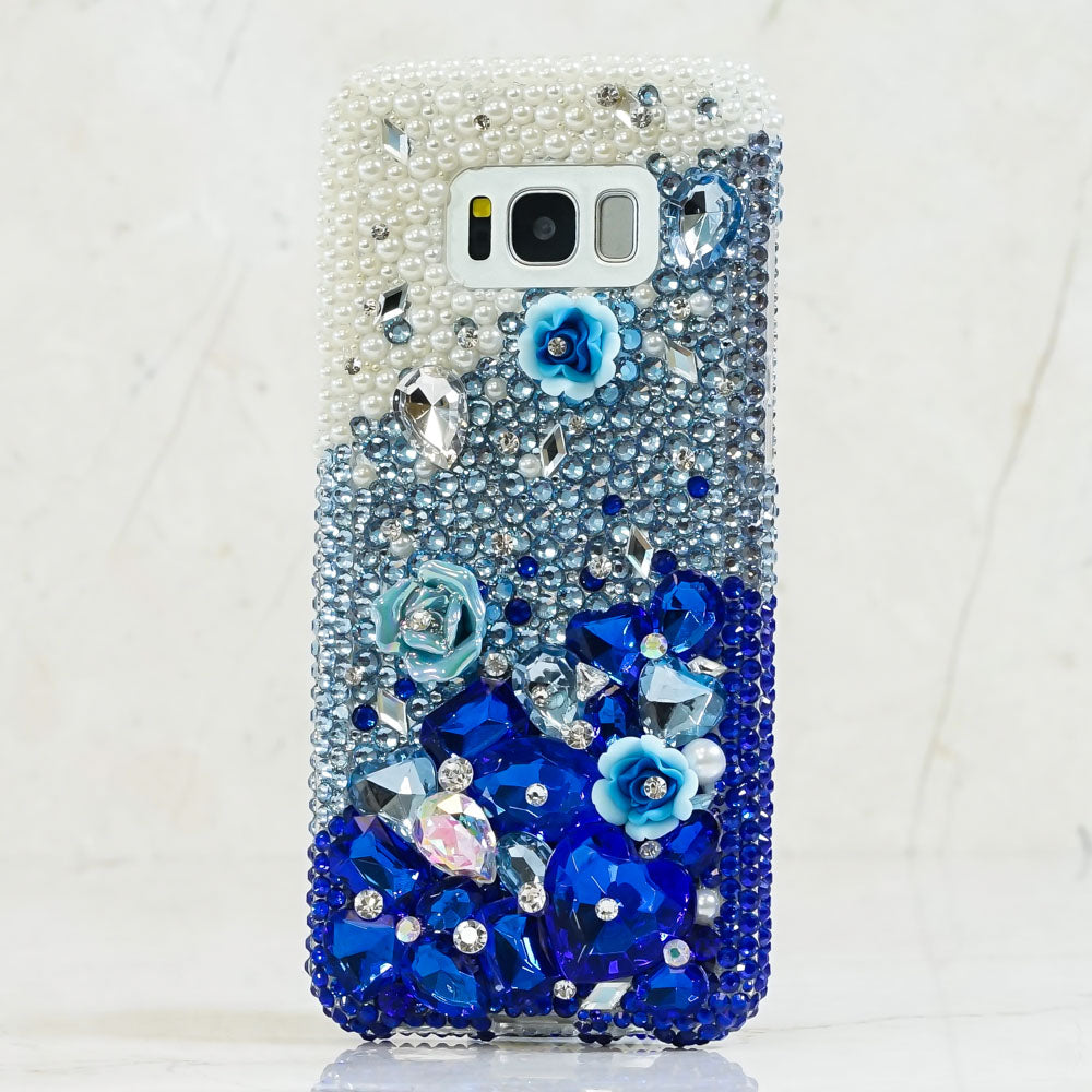 blue crystals samsung note 9 case
