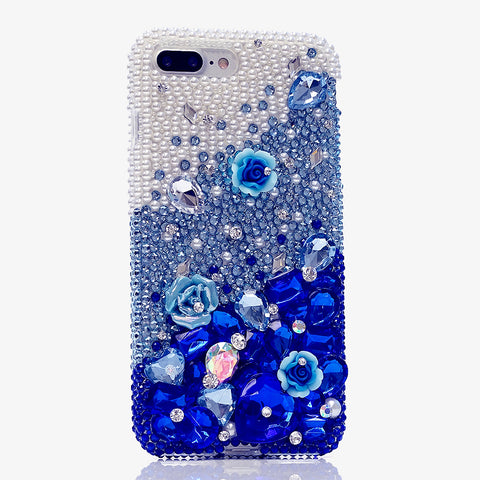 blue bling iphone 7 plus case