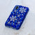 blue crystals iphone Xs max case