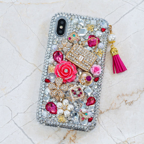 pink flowers iphone Xs max case