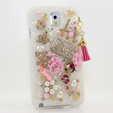 Pearls and Purse With Tassle Design case made for Samsung Note 3