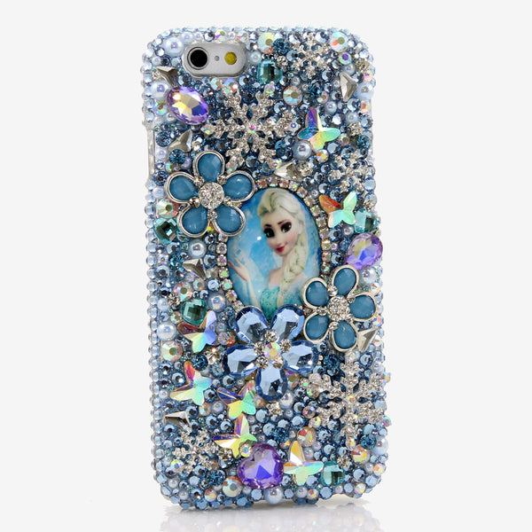 Queen Elsa of Arendelle Design crystals bling case made for iphone 6