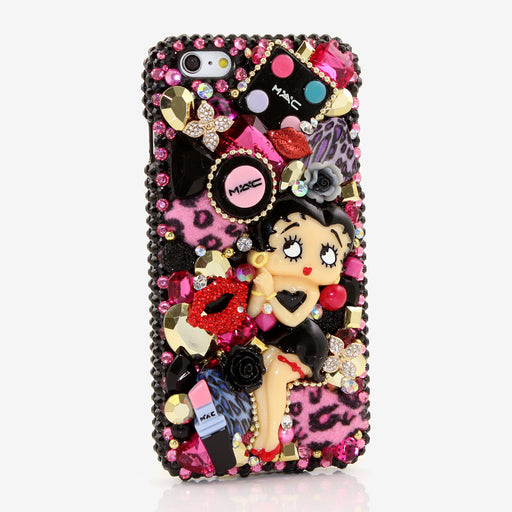Betty Boop Design crystals bling case hamdmade for iphone 6