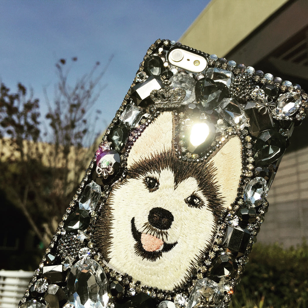 HUSKY bling iphone case