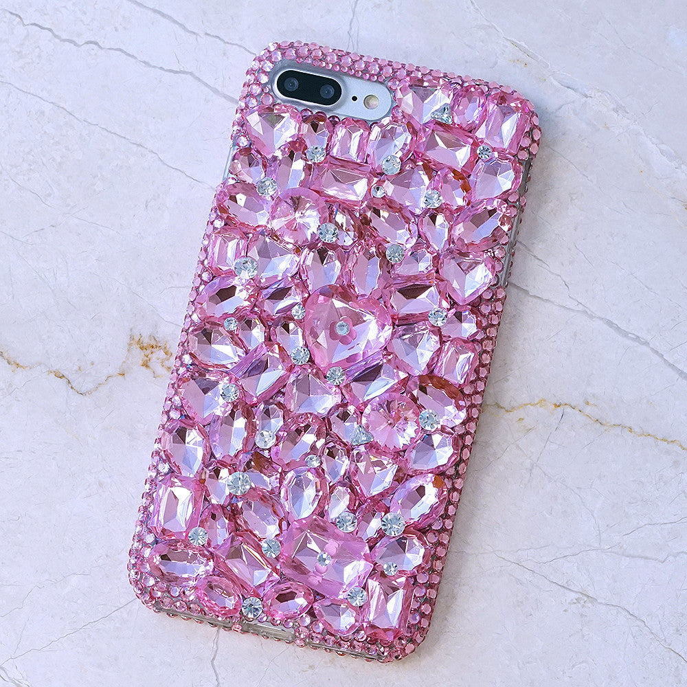 Bling Cases Custom Made Pink Crystals Case For Iphone 7