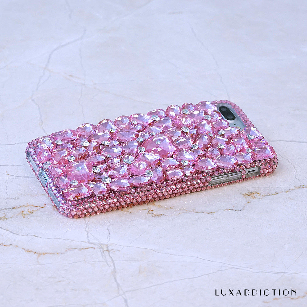 pink crystals iphone 7 plus case