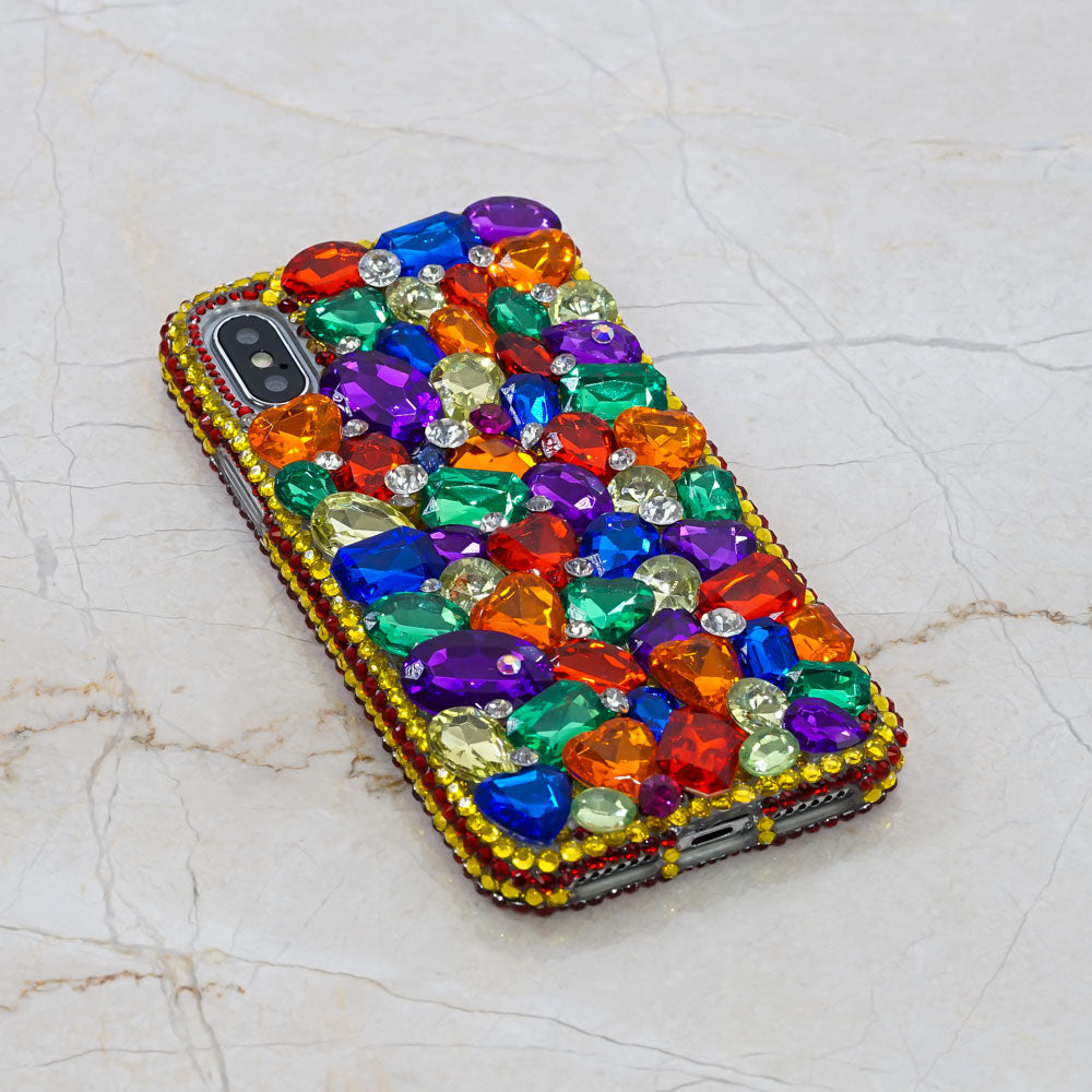 Rainbow crystals iphone X case