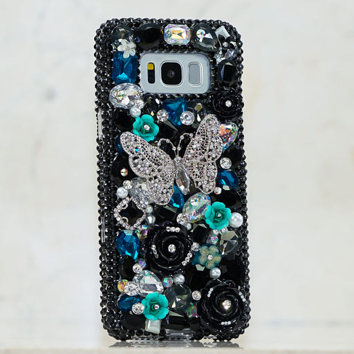 black crystals samsung note 9 case