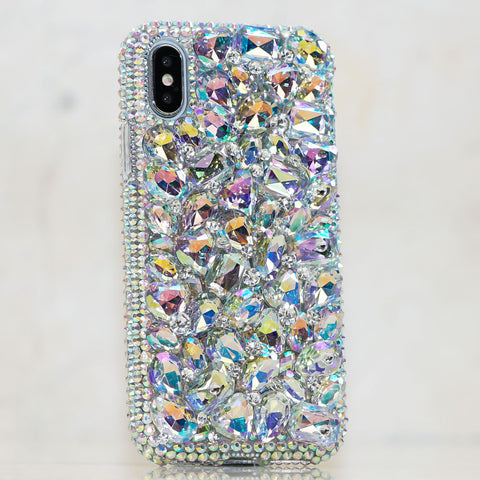 bling phone cases handmade crystallized cases for mobile devicesaurora borealis crystals iphone x case