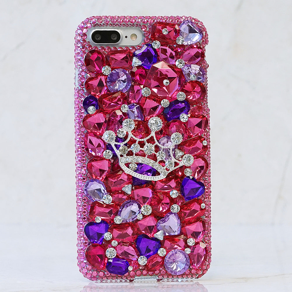 Hot Pink and Purple Crown Design (Style 871)