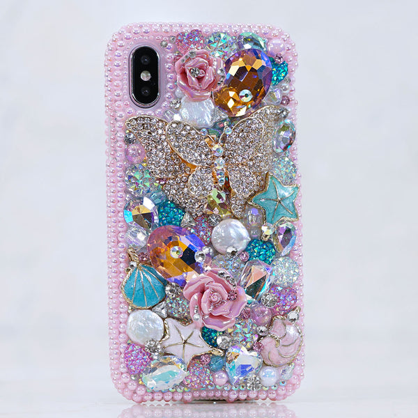 pink pearls iphone xs case