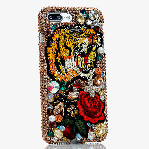 tiger and rose iphone 8 case